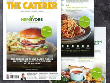 Herbivore features in The Caterer Magazine